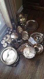 Sterling silver flatware sets also
