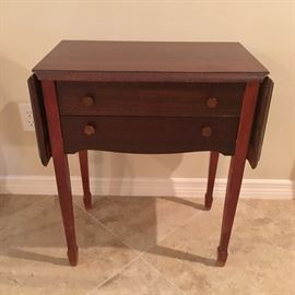 Antique Dropleaf Table with Silverware Chest, circa 1881