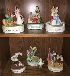 Vintage Disney Rotating Music Boxes