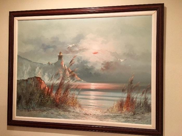 B Duggan Seascape Oil Painting