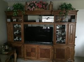 Large entertainment center.  TV and other electronics ARE NOT for sale.