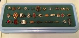 Many costume rings to choose from, most Sarah Coventry