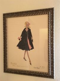 Robert Best signed & numbered Barbie Fashion Model Collection print.