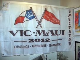 Upstairs Office  Victoria to Maui 2012 Flag