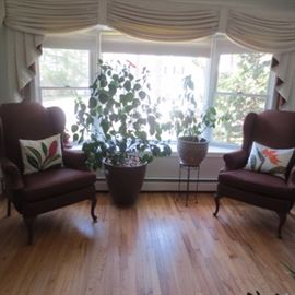 Pair Wing Chair Seating