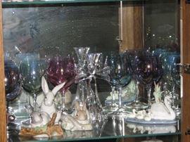 Lladros collection, stemware