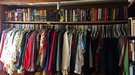 Tons of books , movies and clothes