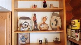 sand pictures gords native items old nick knacks