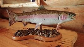 mounted trout