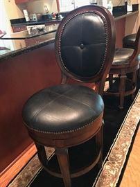 Detail on bar stools