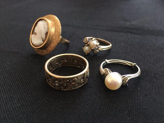 Estate Jewelry, Fine Jewelry, Gold, Rings