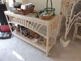 rattan entry table