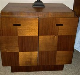 Bedroom nightstand - Made in Canada solid wood. Bedroom set includes 6 pieces: King headboard, 2-nightstand, Armoire, dresser/mirror asking $1,200 for the set!