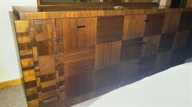 Bedroom dresser - Made in Canada solid wood. Bedroom set includes 6 pieces: King headboard, 2-nightstand, Armoire, dresser/mirror asking $1,200 for the set!
