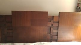 Bedroom Headboard KING - Made in Canada solid wood. Bedroom set includes 6 pieces: King headboard, 2-nightstand, Armoire, dresser/mirror asking $1,200 for the set!