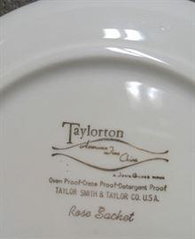Taylorton Rose Sachet back of plate