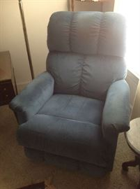 Blue Upholstered Recliner $ 70.00