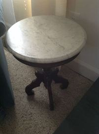 Marble Top Accent Table $ 70.00