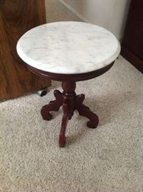 Marble Top Accent Table $ 60.00