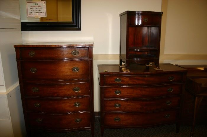 3 Piece Bedroom Set: 5 Drawer Dresser, 4 Drawer Chest, and Night Stand