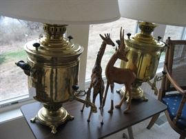 Vintage Russian Samovar lamps-from 1900's