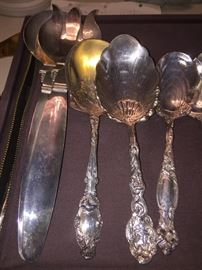 Salad Set is Silver on Copper (spoons are sold)