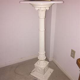 Vintage Tall Pedestal with added Marble Top