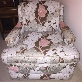 Upholstered Arm Chair- We have a matching custom bedspread & pillow shams