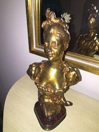 Henri Godel Bronze Female Bust