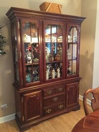 Beautiful Queen Anne style china cabinet for sale.