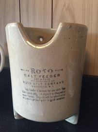 Glazed stoneware Roto salt feeder for livestock