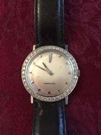 Mens 14K Diamond Watch