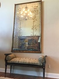 """Magnificent 48"""" by 84"""" Whitehall Engliomise Floor Mirror"""
