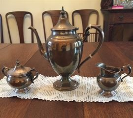 Gorham Teapot, sugar and creamer