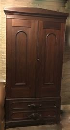 walnut Victorian armoire