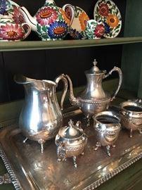 Pretty Silver plate Tea Set