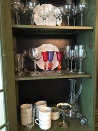 So many beautiful glass and dishware!