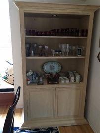 Cabinet  Bohemian czechoslovakian Glasswares