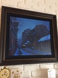 Alexei  Butirsky - He has one auction record available for a similar sized piece.  It was offered at 15,000 - 20,000 however it was not sold.  We are offering this piece for $750 it is an enhanced giclee