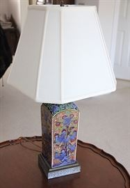 very nice lamp with silk shade