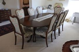 Henkel Harris dining table (there are ten dining chairs in all)