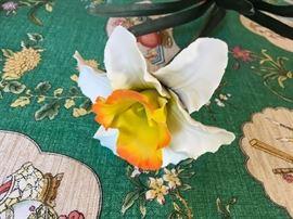 Italian capodimonte porcelain flowers