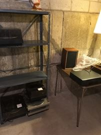 Shelf of  record-players, VCR's