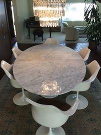 Eero Saarinen Marble Table & Chairs