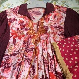 70s Balinese smock dress.