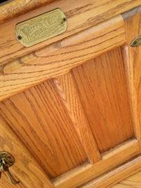 A Oak 'White Clad' Side Table...