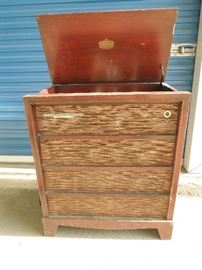 "RCA Console ""Orthophoic High Fidelity"" in working order. Red Mahogany Cabinet needs refinishing"