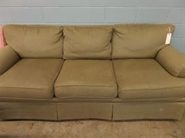 GREEN DOWN FILLED SOFA