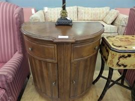 HALF MOON TABLE WITH STORAGE