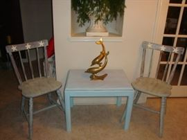 "SEASIDE ""STARFISH"" CHAIRS and TABLE"
